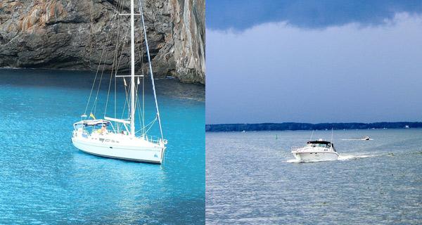 ¿Barco a motor o a vela? Diferencias más allá del seguro de barco