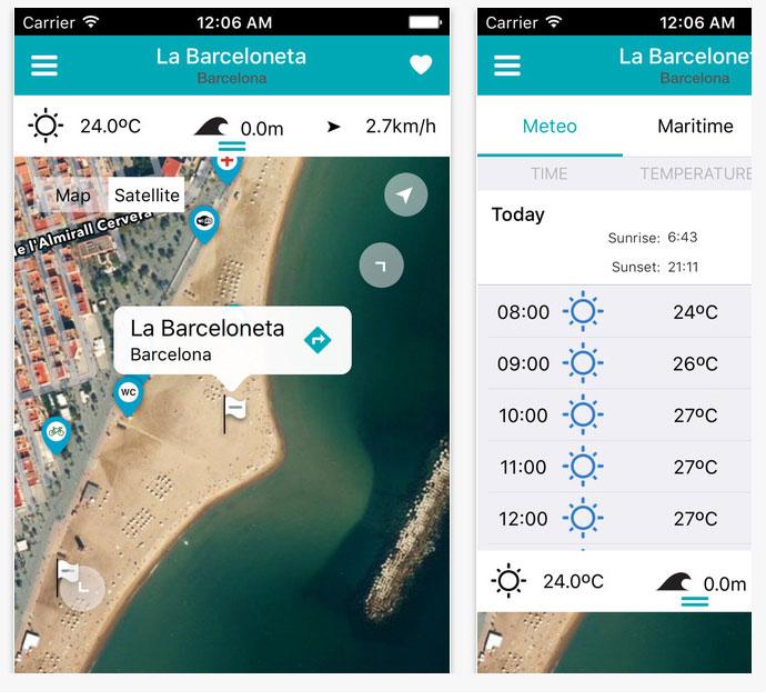 ibeach aplicación móvil
