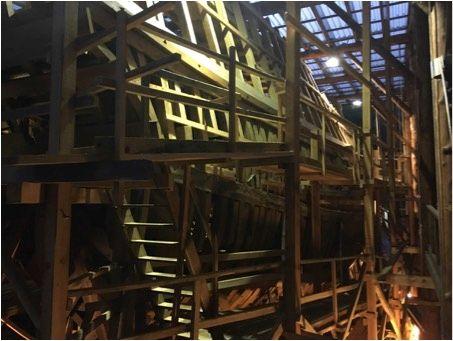 reconstrucción ballenero San Juan